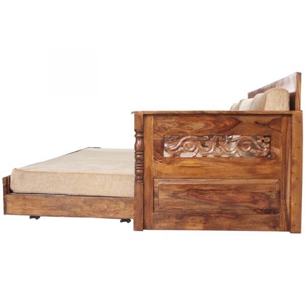 Raja Wooden Carving Sofa Cum Bed Eshopregal Sheesham